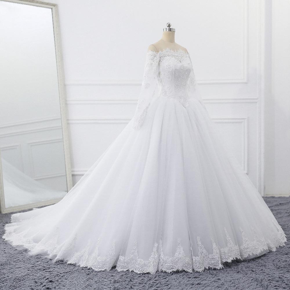 Lover Kiss Vestidos de Noiva Ball Gown Wedding Dress Long Sleeves Wedding Dresses Tulle Vestido de Noiva Casamento Mariage Boda 4