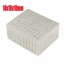 10*10*10 n52 magnet Wholesales 500pcs Strong Block Cube Magnets 10mm x 10mm x 10mm Rare Earth Neodymium magnets