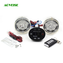 Motorcycle Radio Audio Sound System Anti-theft Alarm system, 12V Mp3 Stereo Audio Motorcycle Speaker (Transparent)