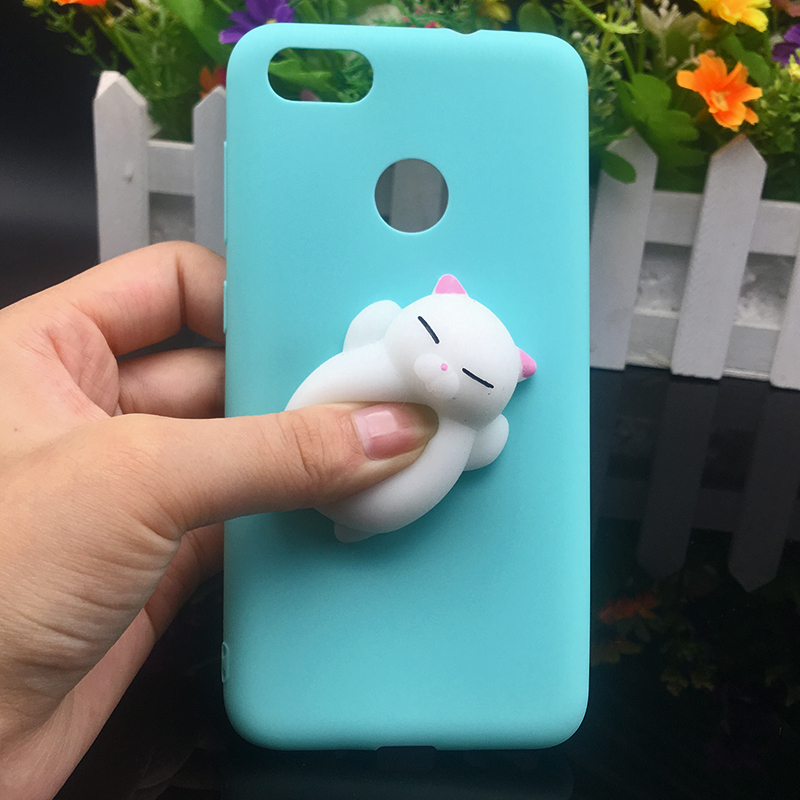 3d Squishy Cat Silicon TPU Soft Cases For Huawei P20 lite P20 pro P9 lite mini 2017 Candy Color Back Cover Honor 8 lite P10 plus (14)
