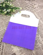 50pcs/lot 18*23cm Purple Patchwork Plastic Recyclable Useful Packaging Bags Shopping Hand Bag Portable Boutique Gift Carrier