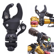 Plastic MTB Mountain Road Bike Bicycle LED Flashlight Torch Bracket Mount Holder Front Light Clip Bicycle Lights Accessories(China)