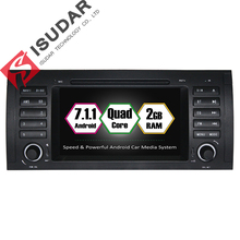 Android 7.1.1 Two Din 7 Inch Car DVD Player For BMW/E39/X5/M5/E38/E53 RAM 2G WIFI GPS Navigation System Radio FM Maps