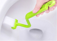 1Pc Useful baby S-type bathing toys Toilet Sanitary Set bath toys for children Curved Bent Handle Cleaning Scrubber Brush(China)