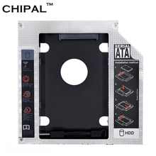 "Aluminum Universal 2nd HDD Caddy 12.7mm SATA 3.0 for 2.5"" 12.5mm 9.5mm 9mm SSD Case Hard Disk Drive Enclosure for Notebook ODD(China)"