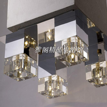 New product metal chromium plating transparent crystal Ceiling lights MB4511-4A study dining room bed room foyer lamp