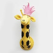 Nordic Ins Personality Children's Room Clothing  Wool Felt Giraffe Animal Head Wall Decorated Pure Hand Wall Decorated
