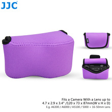 JJC OC-S1PE Purple Mirrorless Camera Pouch Case for Canon SX400 IS/SX410 IS/SX420 IS/SX510 HS, Nikon P7800/DL18-50, LX100