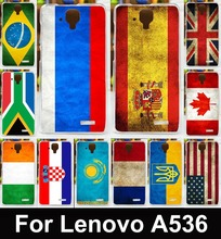 Retro UK Mexico Russia Brazil National Flag Phone Case For Lenovo A536 A358T A 536 Cases Covers Skin Housing Bags Soft TPU Shell