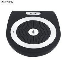 2016 New Stereo Bass Wireless Bluetooth Car Kit Speaker Speakerphone Handsfree Car Kit for iPhone 5 6 Samsung s5 s6 HTC Sony(China)