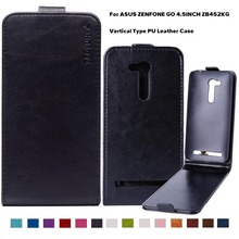 PU Leather Flip Case Phone Case Cover For Asus Zenfone GO 2nd Gen ZB452KG ASUS_X014D ZB450KL 4.5 inch Phone Case Cover Holster