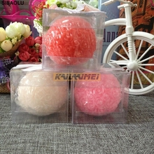25pcs Bridal Wedding Favors 7*7*7cm Rose Ball Candle Party Valentine's Gifts Box Package Holiday gifts