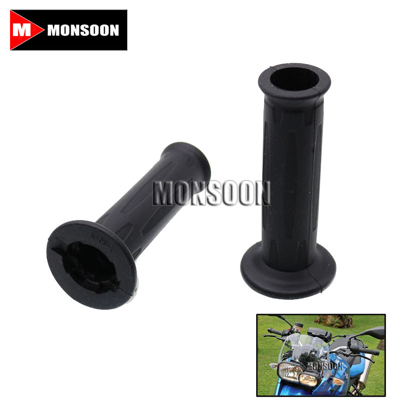 For BMW F800S F700GS F650GS F800R F800GS/ADV Handle Bar Motorcycle Grips Black<br>