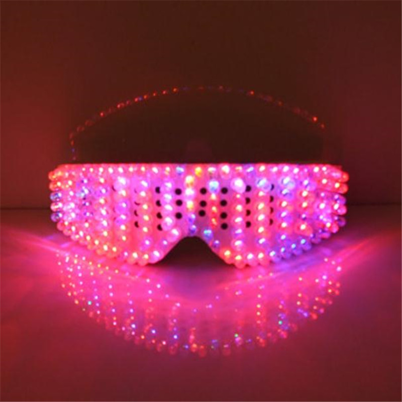 New Product Led Glasses Luminous White Lighting Halloween Glasses For Parties Event Party Supplies Free Shipping04