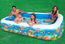 INTEX 58485 small yellow croaker family pool inflatable pool ball pool ocean multifunctional bath size 305 * 183 * 56CM