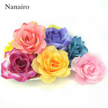 Buy 50pcs Large Silk 6.5cm Rose Artificial Flower Head Wedding Decoration DIY Garland Car Decorative Floristry Cheap Fake Flower for $7.98 in AliExpress store