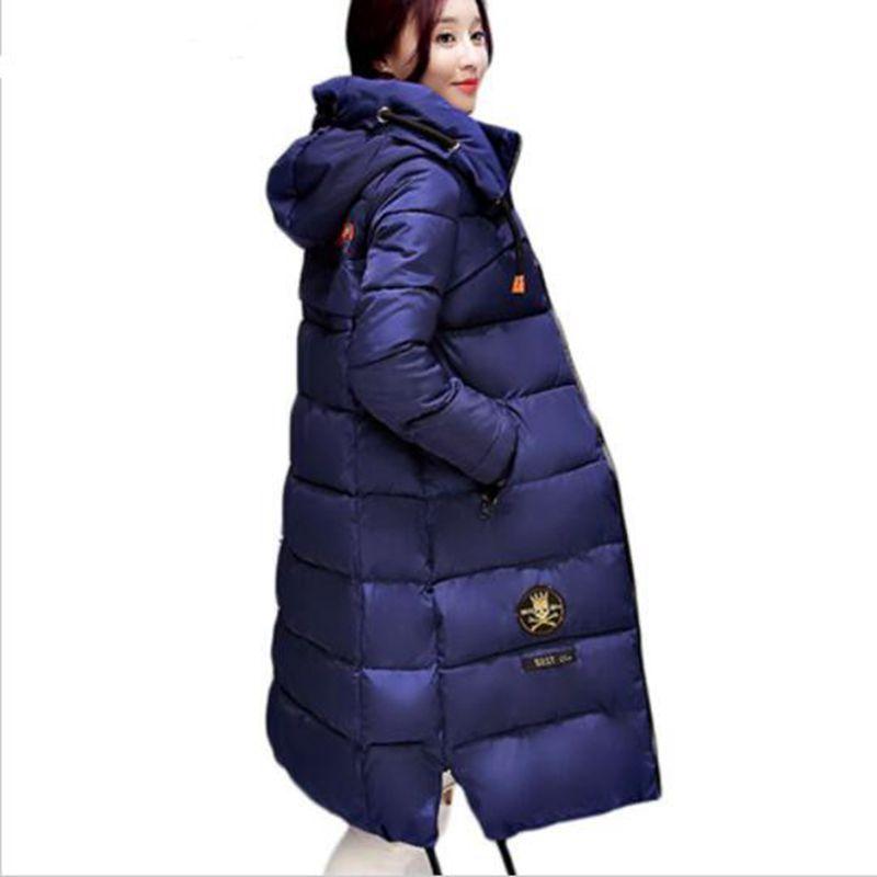 HZF Large size Winter Coat Women 2017 New Mujer Padded Jackets and Coats Slim Thick Cotton Long Jacket Coat ParkasÎäåæäà è àêñåññóàðû<br><br>