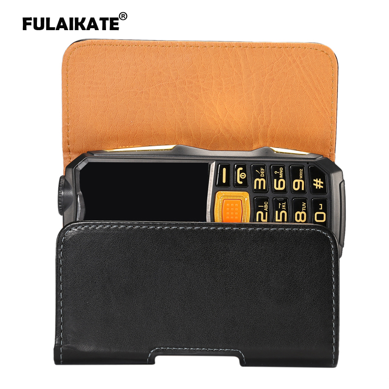 FULAIKATE Universal Leather Waist Bag Gionee W909 Old Men Mobile Phone Portable Pocket Smooth Climbing Pouch