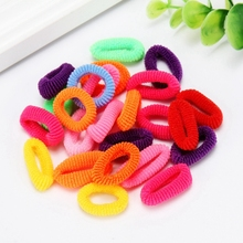 200PCS Child Colorful Elastics Hair Bands for Kids Women Girls Cute Rubber Hairbands Tie Gum