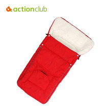 Actionclub New Arrival Baby Sleeping Bags Warm Winter Envelope For Newborn Fur Stroller Thicken Baby Sleeping Bags Sleep Sacks(China)