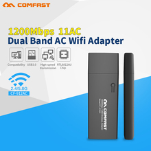 Promotion sale COMFAST CF-912AC 2.4G/5.8G Dual-Band 802.11ac 1200Mbps USB3.0 WI-FI ac WIFI wireless adapter Network Card for ios