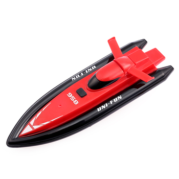 HUANQI 958A Remote Control RC Boats 2.4G 2CH 1:10 Scale Mini Remote Control Boat Toys Gifts for Kids