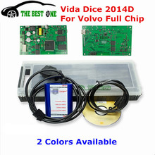 2017 Best 2014D Full Chip For Volvo Vida Dice To 2015 Diagnostic Tool Vida Dice Pro For Volvo Green Board OBD2 OBDii Code Reader(China)