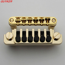 New LP Electric Guitar Bridge BM003 +Vintage Gold TP 6 Tailpiece Guitar Bridge LP guitar(China)