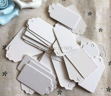 free shipping 1000 pcs a lot 2x4cm cute blank white paper hang tag/cake gift price tags/earring tags/clothing hang tags/labels