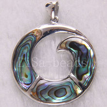 Fashion Jewelry 38x38MM New Zealand Abalone Shell Pendant 1Pcs K239