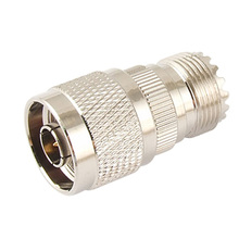 New Silver Antenna Coaxial Cable UHF Female to N Male Connector Cable Adapter