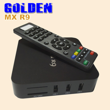 5PCS [DHL FREE] MX R9 TV box Quad core Android 4.4 1GB 8GB  15.2 Full loaded  Mali 400 HDMI 2.0 RJ45  HDD Media Player MX