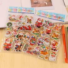 Cartoon Santa Claus instagram 3D Puffy Stickers Children autocollant Anime Sticker Kids  Christmas Gifts stickers scrapbooking