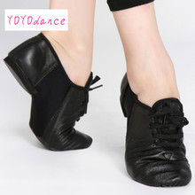Geniune leather lace-up men women jazz dance shoes shoes for dance cow suede sole athletic shoes dancing shoes for adult 6062