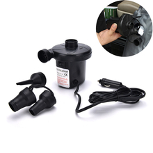 New 12V Car Inflatable Pump Car Auto DC Electric Air Pump Inflator + 3 Nozzles AirBed Mattress Boat High Quality
