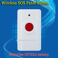 free shipping!Wireless SOS Emergency Panic Button For Our GSM Alarm System 433MHz One Key Alert