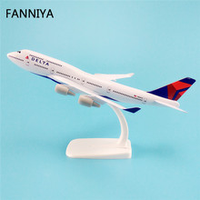 20cm Alloy Metal AIR American DELTA Airways Plane Model Boeing 747 B747 Airlines Airplane Model W Stand Aircraft Gift(China)
