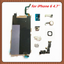 small parts LCD Holding Back Metal Plate  for iPhone 6 4.7'' + Front Facing Camera+Full set Screw+Earpieces+Home Flex Cable