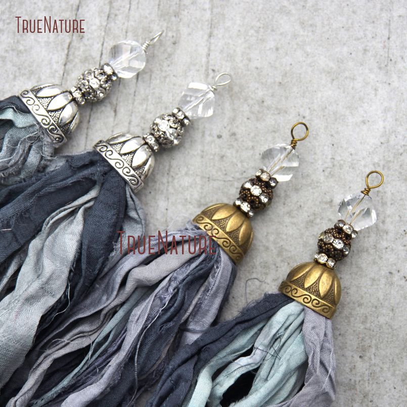 20180303-PM10556- Gray Shades Sari Silk Tassel Pendant_6