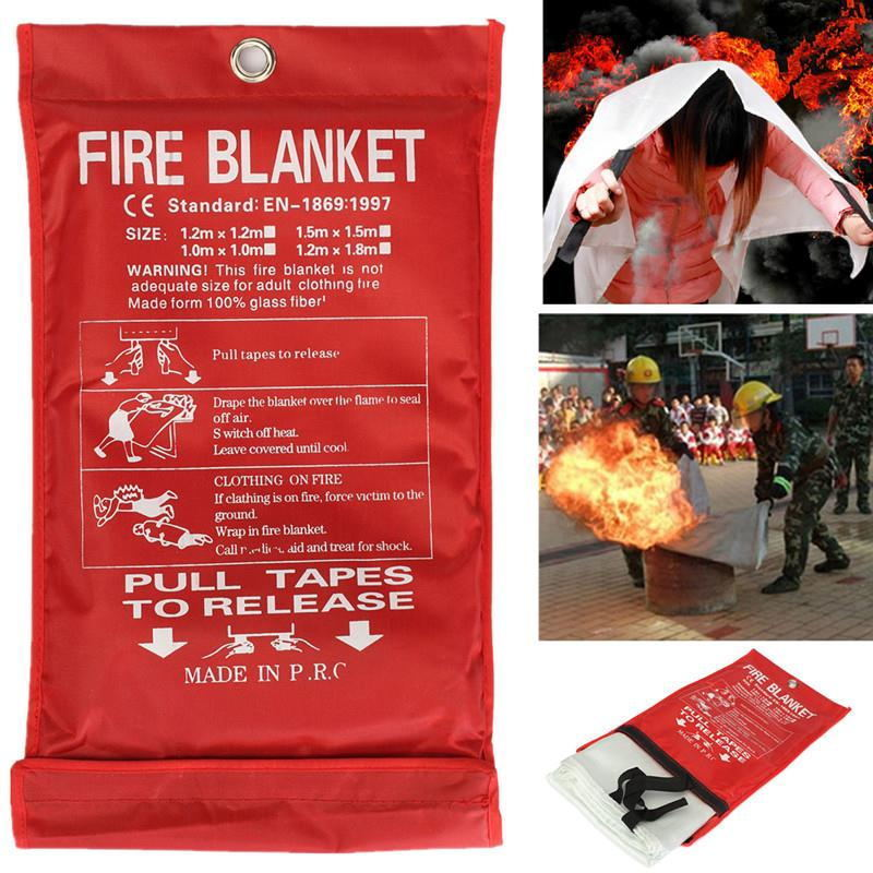 Free Shipping 1MX1M Fire Blanket Emergency Survival Fire Shelter Safety Protector Fire Extinguishers Tent<br><br>Aliexpress