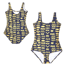 Black Golden Batman Logo One Piece Swimsuit Monokini Print Batman Symbol Beach Wear Swimwear Women Bathing Suits Sexy Swim Suits