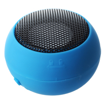 Round Mini Portable Speakers Speaker Audio Speakers USB MP3 MP4 BLEU(China)