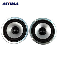 AIYIMA 2pcs 3 inch 4 ohm 10W Full-range speakers circular magnetic computer audio multimedia speaker small speaker accessories