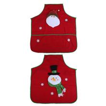 Home Christmas Ornaments Non-Woven Fabric Apron Kitchen Accessaries Party Decoration For Hotel, Mall, Home, Bar