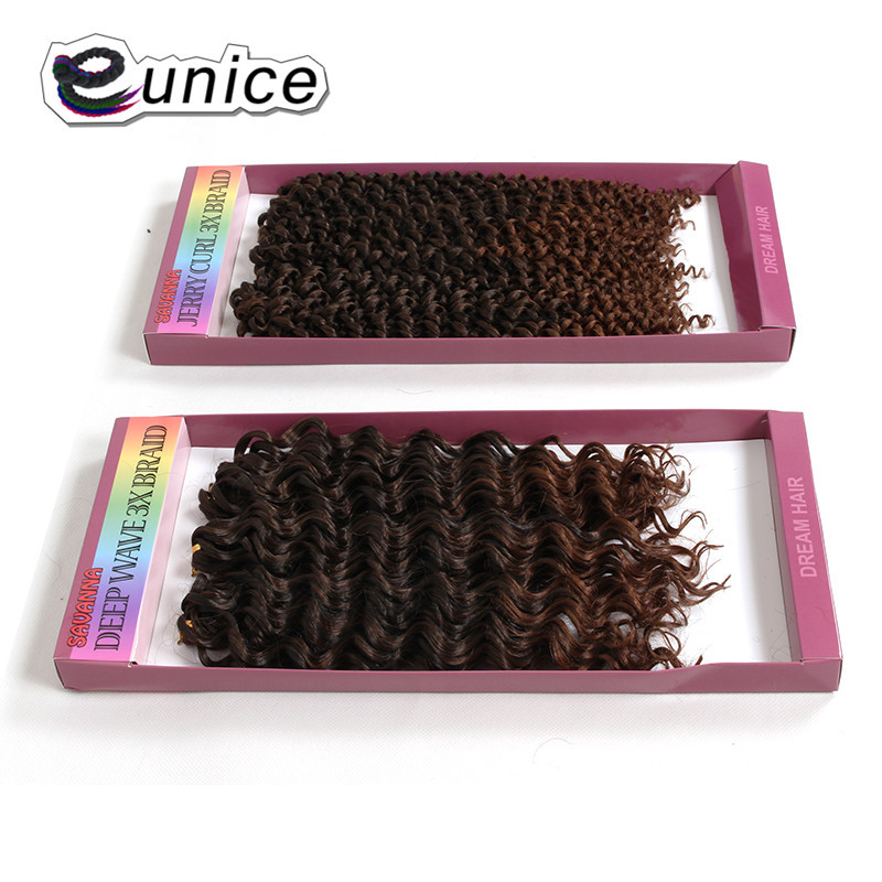 crochet braids hair synthetic 10 inch jerry curly Marly savanna 3x Braid ombre  (23)