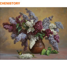 CHENISTORY No Frame Vintage Painting Diy Painting By Numbers Flowers Home Wall Art Picture Unique Gift For Home Decor 40x50cm