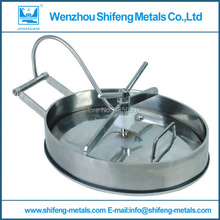 400mmx300mmx10mm Oval Manhole Cover, Stainless Steel Manway SS304(China)
