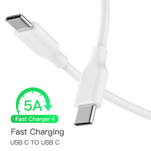Robotsky USB C USB C Type C Cable Male male 5A PD Fast Charging Data Charger Cable MacBook Pro Samsung Google