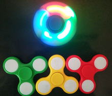 50/Lot 2017 LED Flash Light EDC Hand Spinner Anti Reduce Stress Fidget Toy With Switch ADD ADHD Autism Boring Annoying DHL Free
