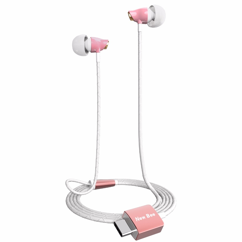 New bee Digital USB Type-C Earphone Hifi Earphone Wire Control Type C Digital Earphone For Letv 2 Letv 2 for Samsung HTC Nokia<br>